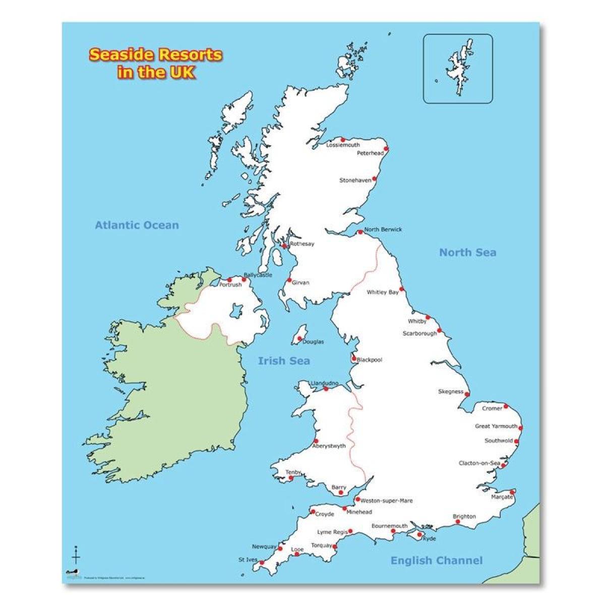 Primorske Uk Mape Slepa Mapa Velke Britanie A Irska Severni