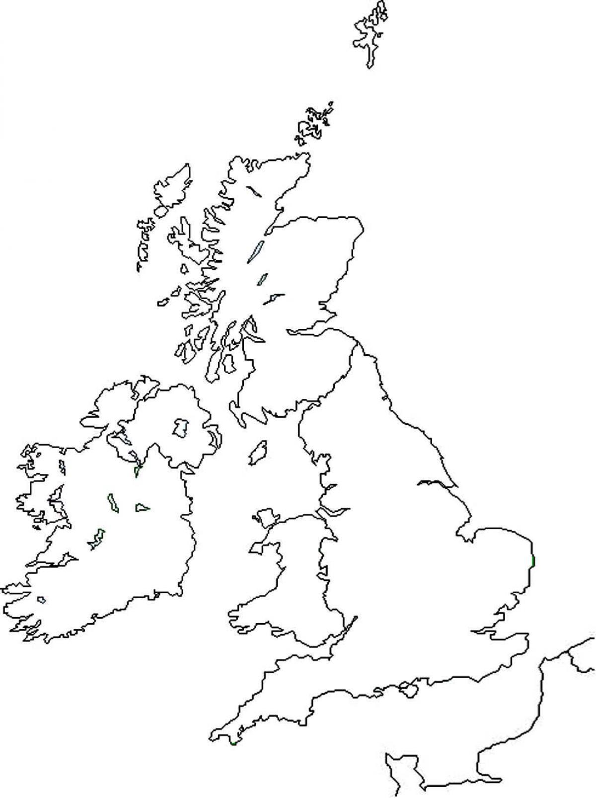 Slepa Mapa Velke Britanie Mapa Britanie Prazdne Severni Evropa